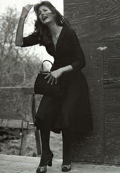 F/W 1996-'97, model Elsa Benitez, photo by Steven Meisel for D&G