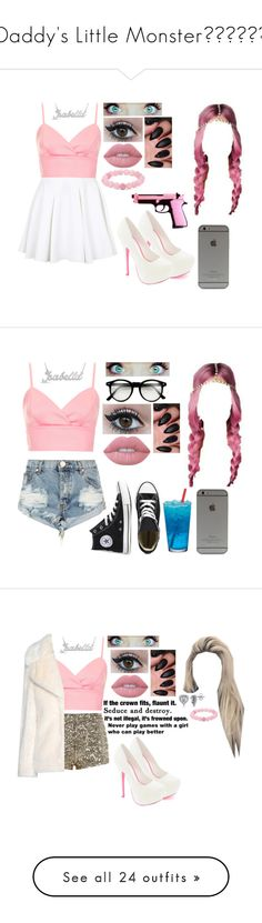 """Daddy's Little Monster♣️💗♠️💙"" by skh-siera18 ❤ liked on Polyvore featuring Polo Ralph Lauren, Topshop, Lime Crime, Palm Beach Jewelry, Balmain, American Apparel, UNIF, Alice + Olivia, OneTeaspoon and Converse"