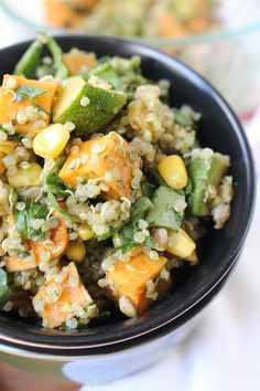 Weeknight Cooking: Summer Quinoa Salad with Arugula Pesto Dressing | C ...