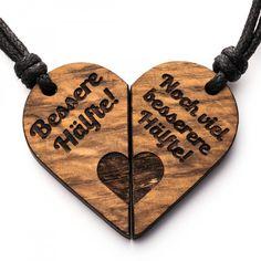 Bessere Hälfte - 3in1_diy_schmuck Holzschmuck aus Naturholz / Anhänger Thors Hammer, Cnc, Music Instruments, Store, Crafts, Unisex Gifts, Diy Jewelry Necklace, Stud Earring, Heart