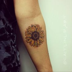 """Healed Sunflower cover up just touched up the middle and added more yellow…"