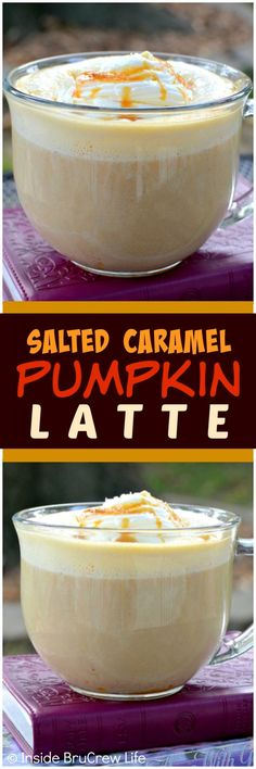 Salted Caramel Pumpkin Latte - pumpkin and caramel adds a fun twist to this coffee drink. It is a delicious drink recipe to relax with this fall.
