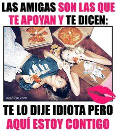 meme ok chicas mujeres en el suelo comiendo pizza