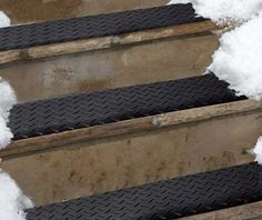 Feel Safe While Climbing Down Those Stairs In Winter. The Heated Stair Mats  Will Prevent Snow And Ice Accumulation On Stairs Around Your Home
