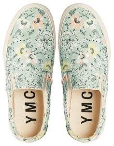 YMC Floral Slip On Trainers