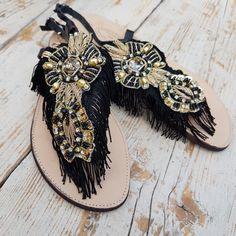 Handmade by Trizia  www.collezionetrizia.it Palm Beach Sandals, Facebook, Jewelry, Fashion, High Fashion, Moda, Jewlery, Jewerly, Fashion Styles