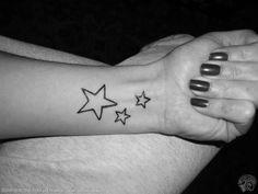 3 Star Wrist Tattoo