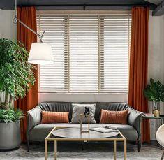 Orange Luxury Matt Velvet Curtains / Custom Made Curtain Panels / Rod Pocket Panels