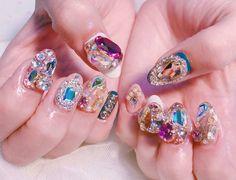 Nail Art Designs Videos, Nail Art Videos, Nail Designs, Gorgeous Nails, Love Nails, Fun Nails, Solid Color Nails, Nail Colors, Korea Nail