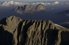 Marmolada from paraglider - Dolomites