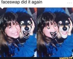 Faceswap did it again - iFunny :) Stupid Funny Memes, Funny Relatable Memes, Hilarious, Foto Fails, Fandoms Tumblr, Mechanic Humor, Face Swaps, Cute Love Memes, Creepy Pictures
