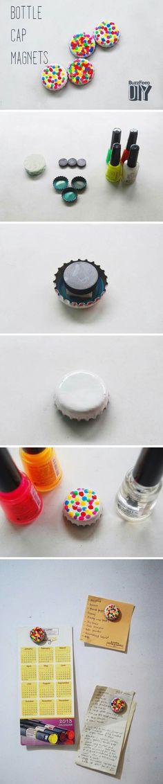 Nail polish magnets