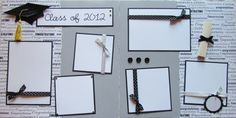 CLaSS of 2012 12x12 Premade Scrapbook Pages -- Graduation Commencement