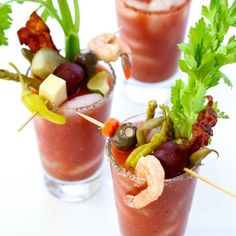 The Best Bloody Mary Recipe and Make Your Own Bloody Mary Bar - foodiecrush Bloody Mary Bar, Spicy Recipes, Healthy Recipes, Drink Recipes, Healthy Food, Fun Recipes, Brunch Recipes, Bloody Mary Recipes, Best Spicy Bloody Mary Recipe