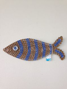 Beer Bottle Cap Fish Wall Art by outsidetheboxsuzie on Etsy
