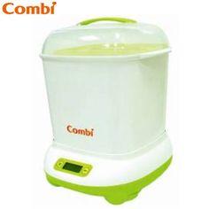 《Combi》微電腦高效烘乾消毒鍋+奶瓶保管箱 -