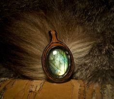 Labradorite in leather / Primitve.deviantart.com