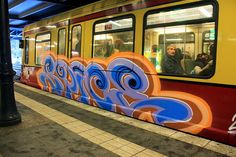Spice  Graffiti on Trains,  S-Bahn Berlin