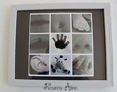 Cadeau fête des mères - Nounou Aline  faire part bébé original Kids And Parenting, Newborn Photography, Birth, Diy And Crafts, Album, Activities, Frame, Fabric, Scrapbooking