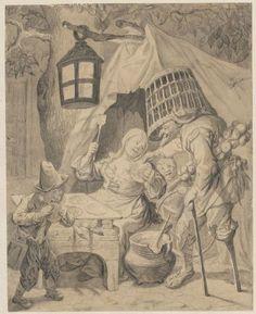 Cornelis Dusart (1660-1704), Allegory of Taste, 1693 black chalk, gray wash, 22.4 × 18 cm Muzeum Narodowe w Warszawie, Warsaw, inv. no. Rys.Ob.d.836 MNW