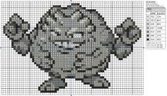 Birdie Stitching Pokemon Pattern - 75 Graveler