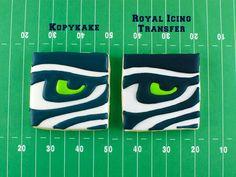 Seattle Seahawks Cookies- Tips on Icing Sports Logos - Semi Sweet Designs