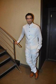 Nehru jacket in all-white. Two things that can make anybody look well-dressed.