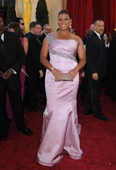 Vestido de Queen Latifah.