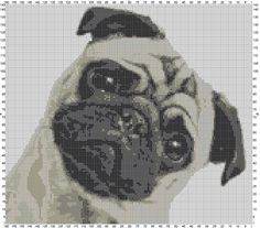 Pug life cross stitch, soon available on Etsy, visit www.crossedcotton.com for more samples! :-)