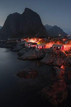 Simplicity by Night, Lofoten Islands in Norway by Fatih M. Sahbaz