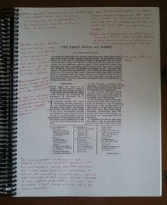 Wide Margin Edition of the Book of Mormon!  Use this PDF to print your own copy of the BoM with super huge margins for scripture journaling and study.  Spiral bind at your local print shop for lay-flat reading.  Perfect for missionaries or your family scriptorian!
