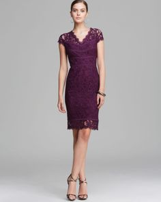 Love this: Dress Cap Sleeve Lace @Lyst