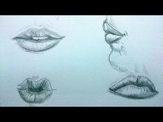 Cómo dibujar labios realistas / How to draw realistic lips - YouTube