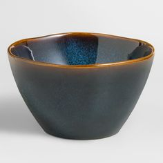 Our exclusive Indigo Organic Reactive Glaze Bowls might just as likely be found in a boutique ceramics shop for twice the price. Each stoneware bowl is one of a kind, finished with a reactive glaze that shines beautifully on your table. Superb for entertaining or gift giving!
