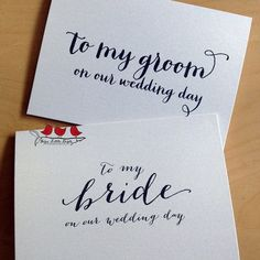 Calling all brides and grooms, write a sweet note to your beloved  on your wedding day!  @marrygrams #bride #groom #handwritten #love #lovenote #paperlove #wedding #firstlook