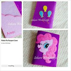 Pinkie Pie Passport Cover 😍 😍  100 % handmade by Sakura Workshoppe  #littlepony #pinkiepie #passportcover #handmade #diy #felt