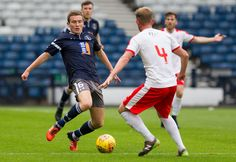 Queen's Park's Gregor Fotheringham in action during the SPFL League One game between Queen's Park and Raith Rovers.