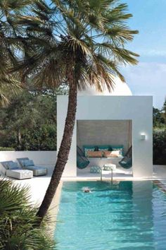 Having a pool sounds awesome especially if you are working with the best backyard pool landscaping ideas there is. How you design a proper backyard with a pool matters. Outdoor Rooms, Outdoor Living, Outdoor Retreat, Outdoor Lounge, Exterior Design, Interior And Exterior, Exterior Siding, Interior Garden, Modern Exterior