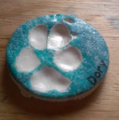 How to make a dog paw ornament with stuff in your pantry.