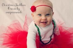 Handmade Holiday Gift Guide Review: Whimsical Holiday Necklace Onesie from Unique Annick By Bare Feet on the Dashboard #christmas #onesie #necklace #tutu #holiday #handmade