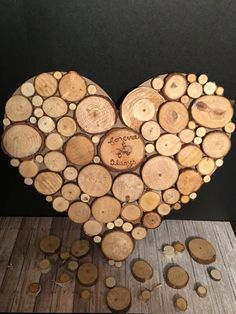 Reclaimed Wood Slice Heart Wall Art by myDIYambitions on Etsy