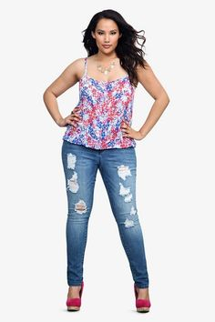 """#curvy #thick jeggings """"if you follow my Curvy Girl's Spring/Summer Closet, make sure to follow my Curvy Girl's Fall/Winter Closet."""" http://pinterest.com/blessedmommyd/curvy-girls-fallwinter-closet/"""