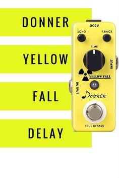 Donner Yellow Fall Delay Guitar Effect Pedal True Bypass_Pinn