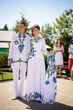 Весільний комплект вишиванок