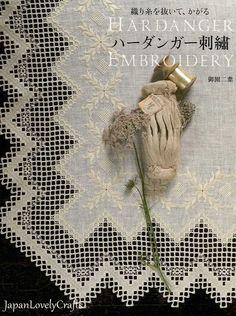 Hardanger Embroidery Patterns Japanese Hand by JapanLovelyCrafts