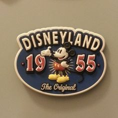 Magnet #1414: Disneyland 1955 (9/18/13) First time ever, this year. LOVE. #disney #retro #awesome #CA #mickeymouse #anaheim #magnets
