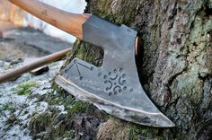 Baltic/Austrian Goosewing Hewing Axe by John Neeman Neemantools