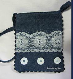 Denim and lace handbag...