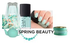 """mints"" by bellrae ❤ liked on Polyvore featuring beauty, NARS Cosmetics, Miss Selfridge, Spring, floral, mint, NARS and greennails"