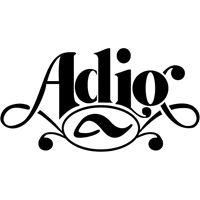 Adio logo artistic lettering